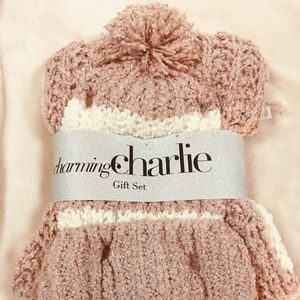 NWT Charming Charlie hat and scarf gift set
